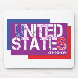 United States Are Purple Mouse Pad