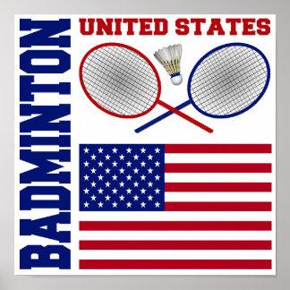 United States Badminton Poster
