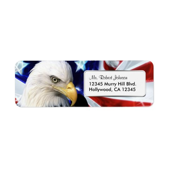 United States Bald Eagle Return Address Label