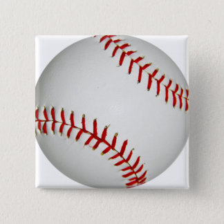 United States Baseball With Large Red Stitching 15 Cm Square Badge
