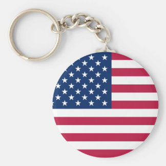 united states basic round button key ring