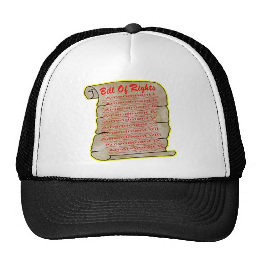 United States Bill Of Rights Hats