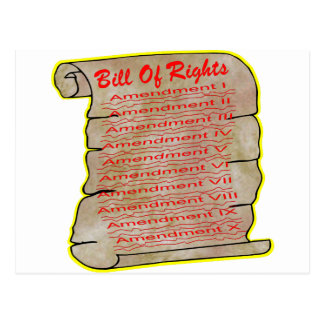 United States Bill Of Rights Postcard