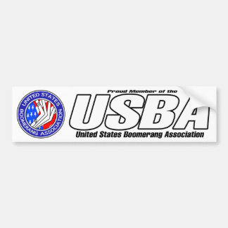 United States Boomerang Association bumper sticker