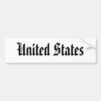 United States Bumper Sticker