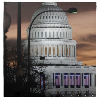 United States Capitol Building at Dusk Cloth Napkins