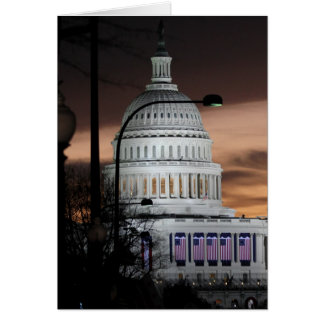 United States Capitol Building at Dusk Greeting Card