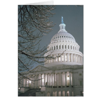 United States Capitol Building in Winter Dress Card