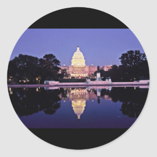 United States Capitol Round Sticker