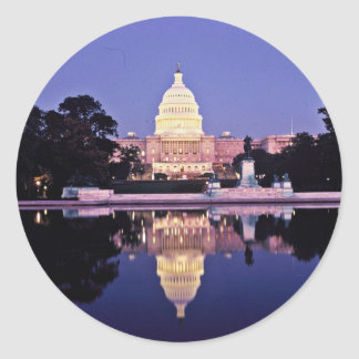 United States Capitol Round Stickers