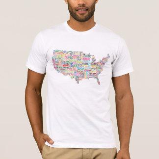 United States City Map T-Shirt