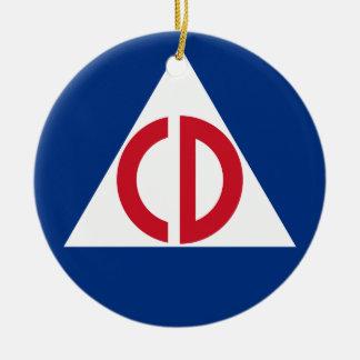 United States Civil Defense Logo Vintage Symbol Ceramic Ornament