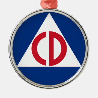 United States Civil Defense Logo Vintage Symbol Metal Ornament
