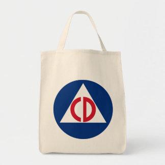 United States Civil Defense Logo Vintage Symbol Tote Bag