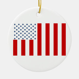 United States Civil Flag Sons of Liberty Variation Round Ceramic Decoration
