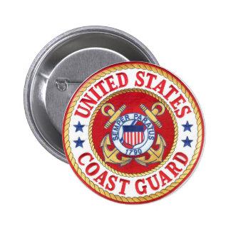 united states coast guard 6 cm round badge