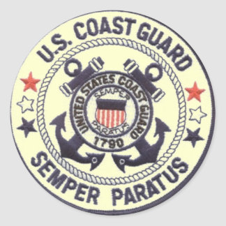 United States Coast Guard Classic Round Sticker