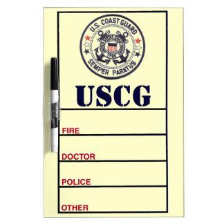 United States Coast Guard Dry Erase Whiteboard
