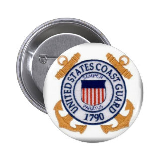 United States Coast Guard Emblem Button