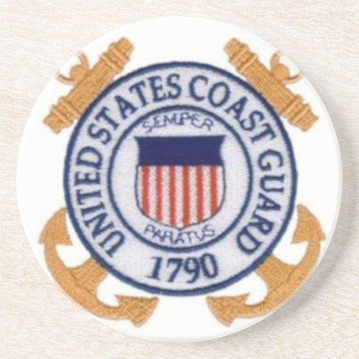 United States Coast Guard Emblem Beverage Coasters