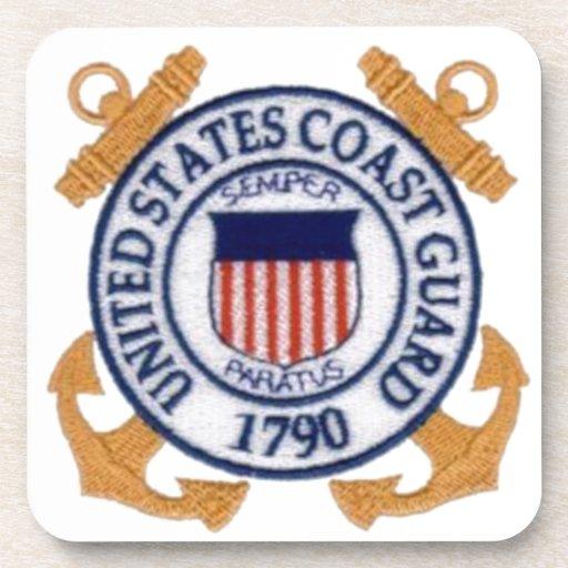 United States Coast Guard Emblem Beverage Coaster
