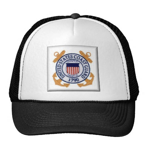 United States Coast Guard Emblem Mesh Hat
