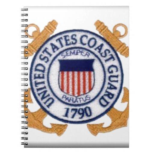 United States Coast Guard Emblem Spiral Notebook