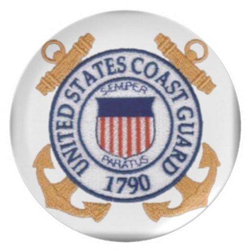United States Coast Guard Emblem Dinner Plates