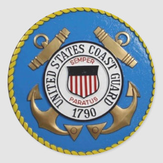 UNITED STATES COAST GUARD INSIGNIA CLASSIC ROUND STICKER
