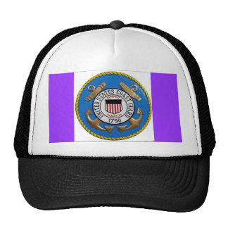 UNITED STATES COAST GUARD INSIGNIA TRUCKER HAT
