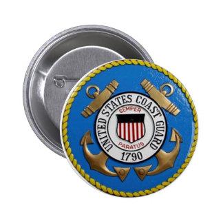 UNITED STATES COAST GUARD INSIGNIA PINBACK BUTTONS