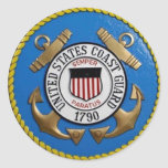 UNITED STATES COAST GUARD INSIGNIA ROUND STICKER