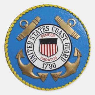 UNITED STATES COAST GUARD INSIGNIA ROUND STICKER