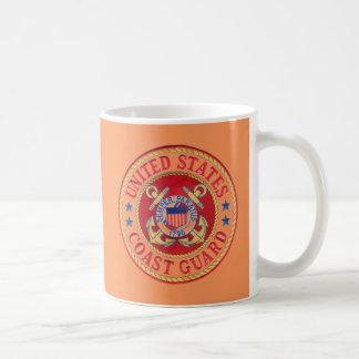 united states coast guard basic white mug