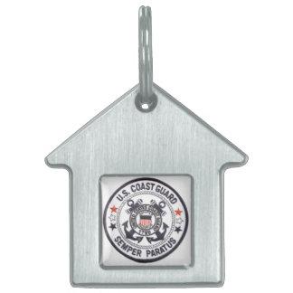 United States Coast Guard Pet Name Tag
