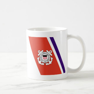 United States Coast Guard Racing Stripe - Left Coffee Mug
