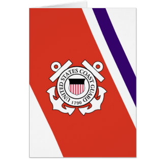 United States Coast Guard Racing Stripe - Left Greeting Card