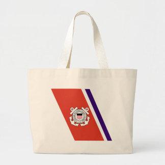 United States Coast Guard Racing Stripe - Left Jumbo Tote Bag