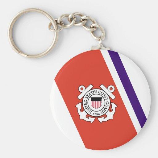 United States Coast Guard Racing Stripe - Left Key Chain
