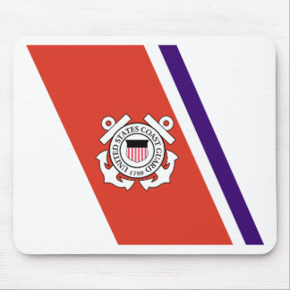 United States Coast Guard Racing Stripe - Left Mouse Pad