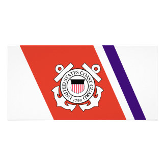 United States Coast Guard Racing Stripe - Left Photo Cards