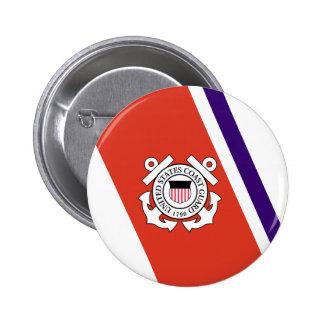 United States Coast Guard Racing Stripe - Left Pin