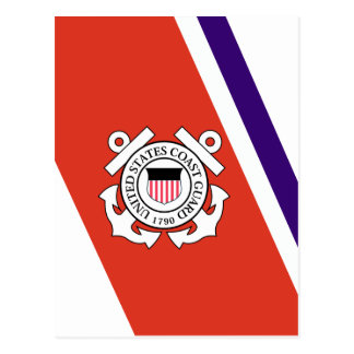 United States Coast Guard Racing Stripe - Left Postcard