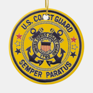 United States Coast Guard Round Ceramic Decoration