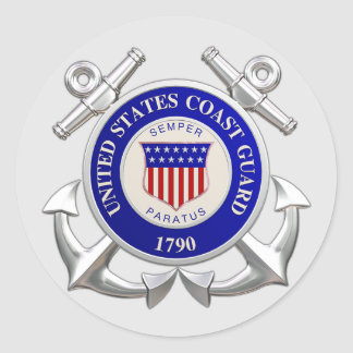 United States Coast Guard Round Sticker