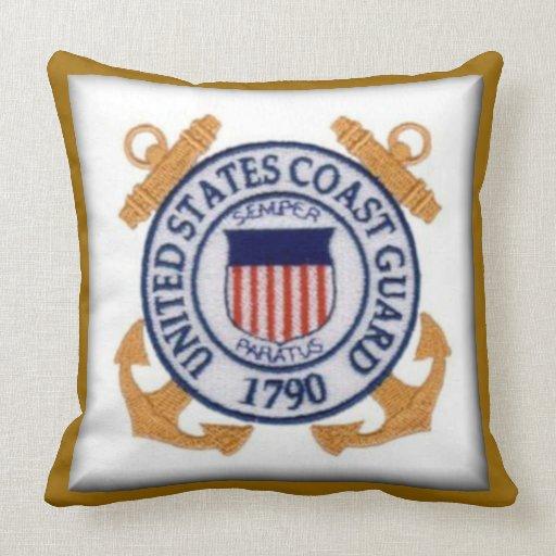 United States Coast Guard Seal Throw Pillows