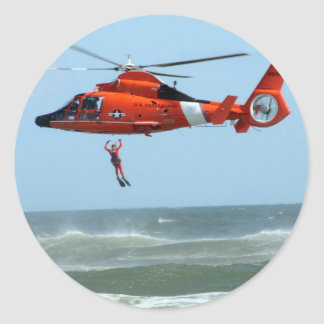 United States Coast Guard Search and Rescue Round Stickers