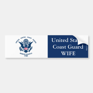 United States Coast Guard Wife Bumper Sticker