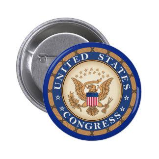 United States Congress 6 Cm Round Badge