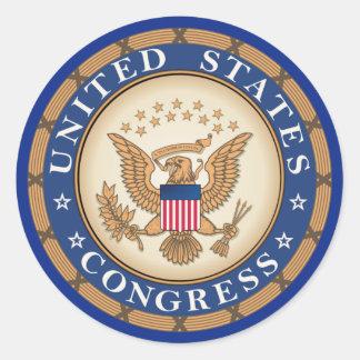 United States Congress Round Sticker